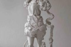 Elke Haertel - Rapunzel, 2018, plaster cast, 168 x 150 x und 89 cm