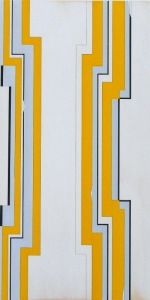 Jens Wolf - untitled, 2013, Acrylic on ply wood, 80 x 60 cm