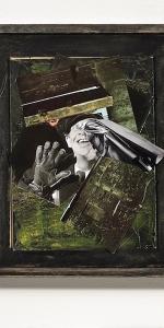Manuel Eitner - Wart hält nicht stand, 2011, Collage, Mixed Media, 50 x 40 cm
