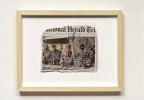 Manuel Eitner - untitled, 2009, Newspaper cutting, ink, transparency, 30 x 40 cm