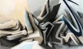 Mirko Reisser (DAIM) - Shadow DAIM, 2013, Spraypaint on canvas, 130 x 220 cm