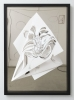 Nina Annabelle Maerkl - Balancing the whimsical, 2016, Ink on paper, mirror metal,Cutouts, 104,5 x 74,5 cm / 50 x 29.5 in