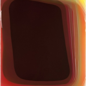 Peter Zimmermann - Sticker, 2014, Epoxy resin on canvas,120 x 100 cm / 47.2 x 39.4 in.