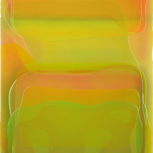 Peter Zimmermann - Canary, 2014, Epoxy resin on canvas, 200 x 145 cm / 78.7 x 57 in.