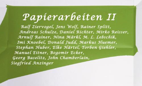 Papierarbeiten II – 70er Jahre bis Heute
