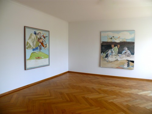 Siegfried Anzinger - Installation view, 2014