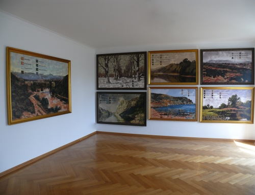 """Mateo Mate """"Uniformed Landscapes""""   Installation view, 2014"""