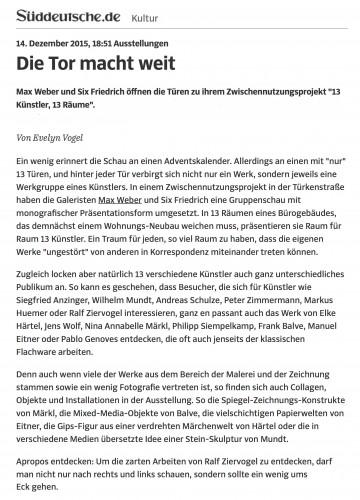 Ausstellungen - Die Tor macht weit - Süddeutsche1.de