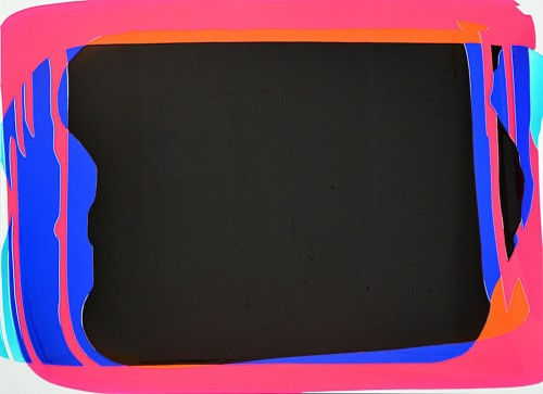 Peter Zimmermann - untitled, 2016, Epoxy resin on canvas, 145 x 200 cm