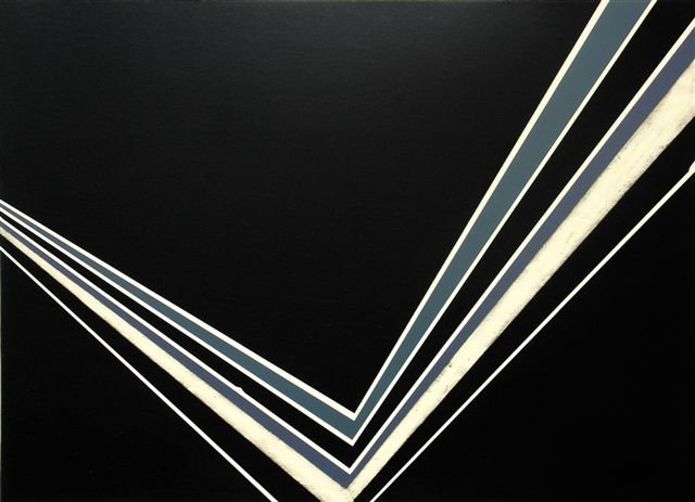 Jens Wolf - untitled, 2004, Acrylic on ply wood, 87 x 120 cm