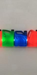 Bill Culbert - Funk, Red, Green Blue, Red, Green, 2014, plastic bootles, light tube, 30 x 120 x 12,5 cm