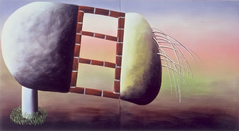 Andreas Schulze - Untitled, 1992, Acrylic on canvas, 180 x 360 cm