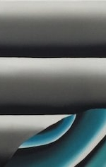 Andreas Schulze - untitled(autostrada), 2016, Acrylic on canvas, 60 x 220 cm