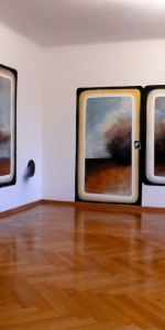 Andreas Schulze - Wall painting: Nebel in der Wohnung, 2013, 300 x 1000 cm