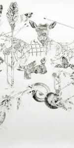 Elke Haertel - untitled, 2010, Drawing (Pigment Fineliner), 143,5 x 178 cm