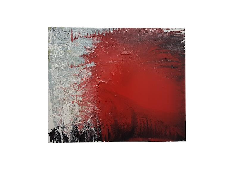 Frank Balve   Dämmerung kommt an, 2018, acrylic on canvas, 80 x 100 cm /  31.5 x 39.4 in