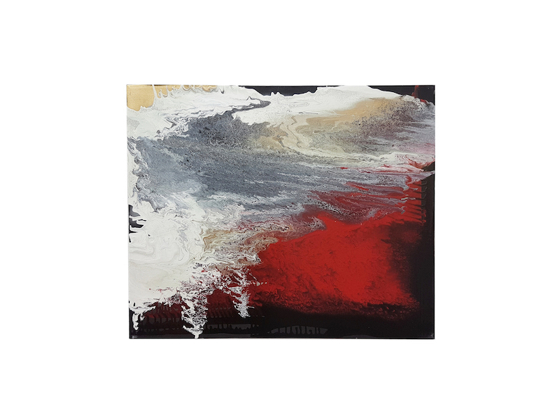Frank Balve   Dämmerung zieht ab, 2018, acrylic on canvas, 80 x 100 cm / 31.5 x 39.4 in