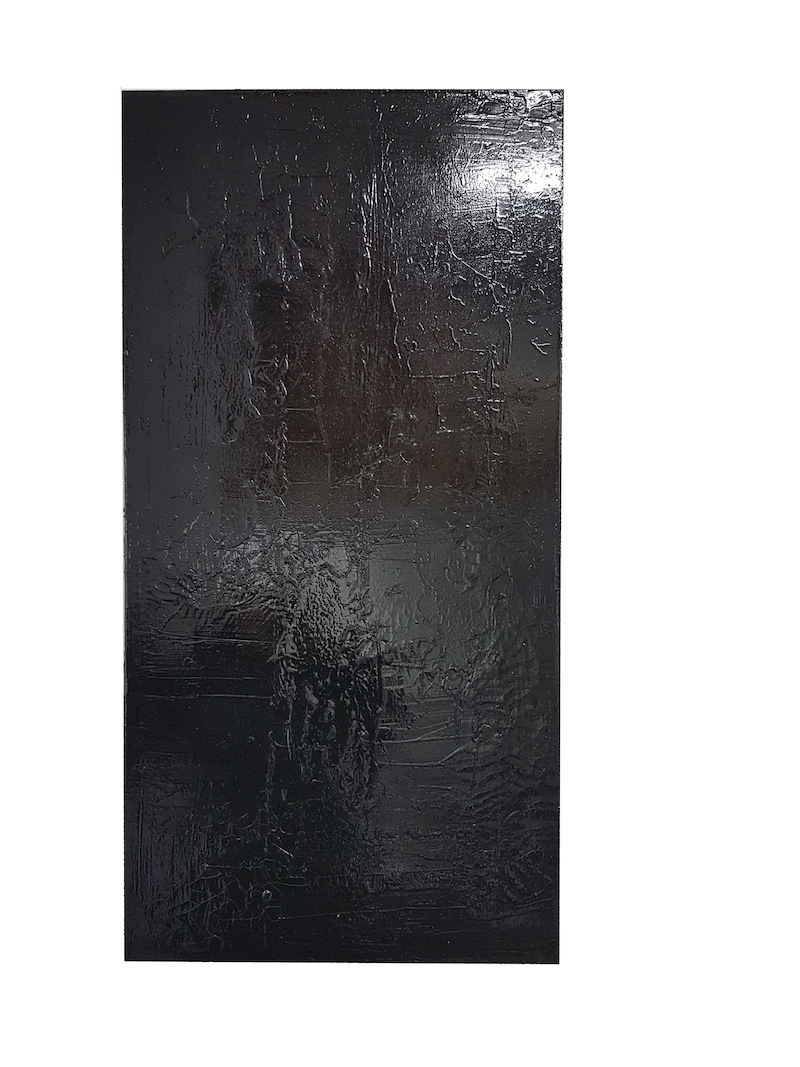 Frank Balve   Dunkle Karte, 2018, acrylic on canvas, 110 x 55 cm / 43.3 x 21.7 in