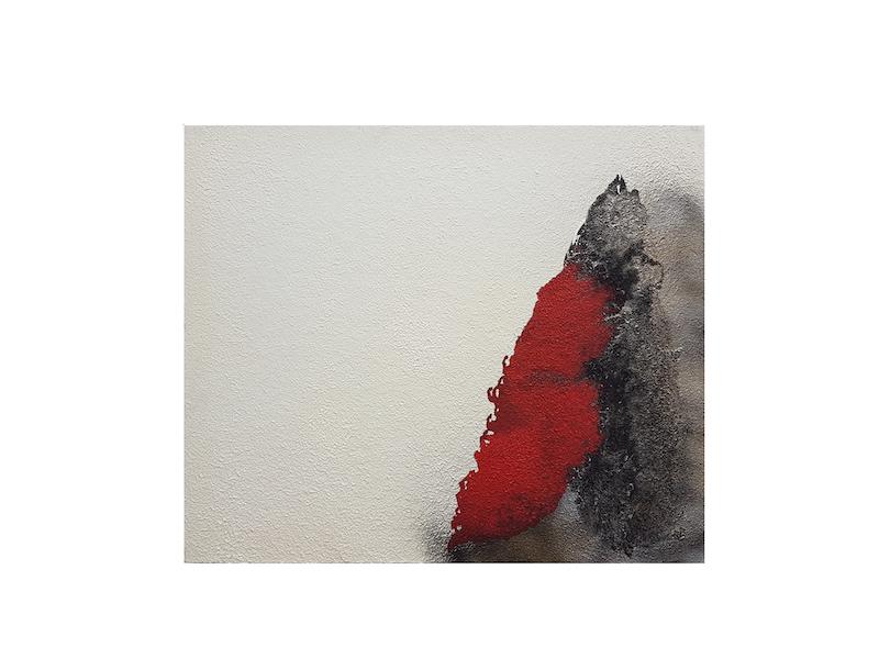Frank Balve   Front Böe, 2018, acrylic, on canvas,  80 x 100 cm /  31.5 x 39.4 in