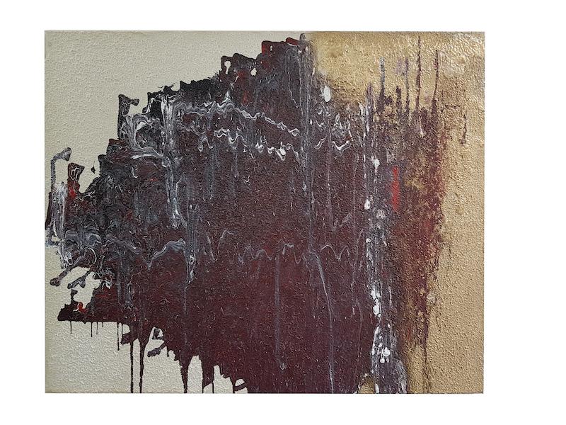 Frank Balve   Schauer Gewitter, 2018, acrylic on canvas,  80 x 100 cm /  31.5 x 39.4 in