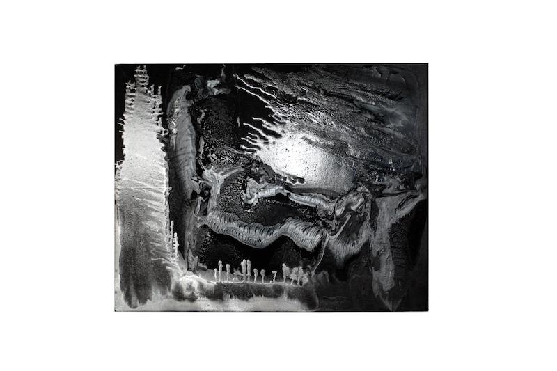 Frank Balve   Wolkenbruch (NACHT), 2018, acrylic on canvas,  80 x 100 cm /  31.5 x 39.4 in