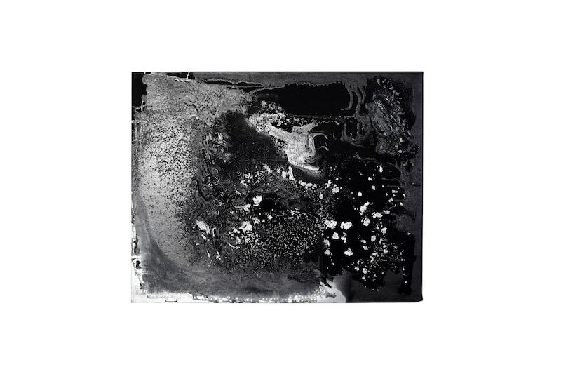 Frank Balve   Wolkenbruch (TAG), 2018, acrylic on canvas,  80 x 100 cm /  31.5 x 39.4 in