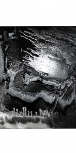 Frank Balve | Wolkenbruch (NACHT), 2018, acrylic on canvas,  80 x 100 cm /  31.5 x 39.4 in