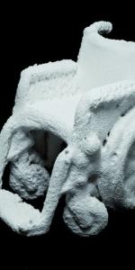 Frank Balve - Geliebte Nr.3, 2013, Paper pulp,glue,wood,metall ca. 95 x 70 x 110 cm