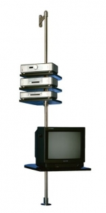 Gert M Weber - MediaBaum, 1993, stainless steel, glass (tempered), various dimensions