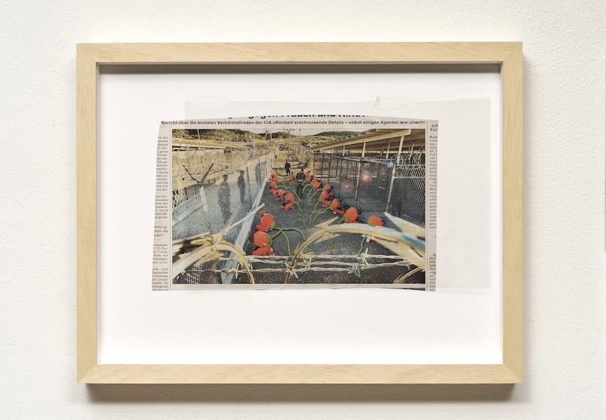 Manuel Eitner - untitled, 2009, Newspaper cutting, ink, transparency, 30 x 40 cm