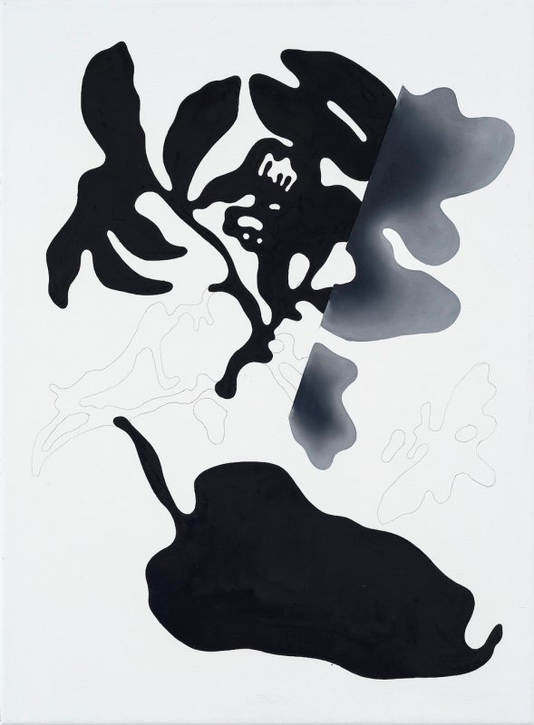 Markus Huemer - Fragmentiertes Autoupdate, 2017, Oil on canvas, 60 x 45 cm