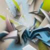Mirko Reisser (DAIM) | DAIM - Backsplash, 2017, Spraypaint on aluminium honeycomb sandwich plate, 140 x 140 cm / 55.11 x 55.11 inch