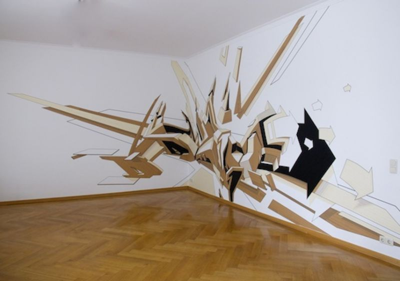 Mirko Reisser (DAIM) - DAIM - Coming out, 2010, Walltaping, 305 x 850 cm