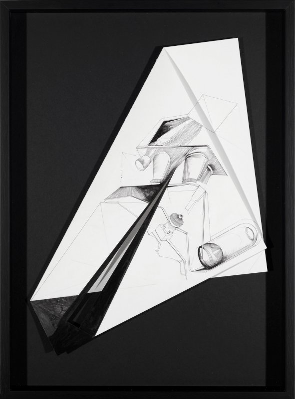 Nina Annabelle Maerkl - Fragmented fiction IV, 2015, Ink on folded paper,cut outs, 45,5 x 33 cm