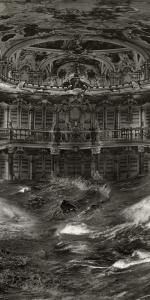 Pablo Genoves - Bibliothek, 2014, Digigraphie, 174 x 160 cm, Edition 5 + 1 a.p.