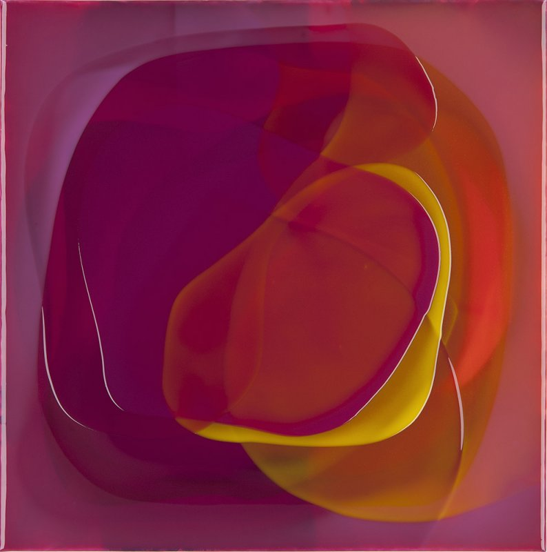 Peter Zimmermann - Falx, 2014, Epoxy resin on canvas, 59 x 59 cm / 23.2 x 23.2 in.