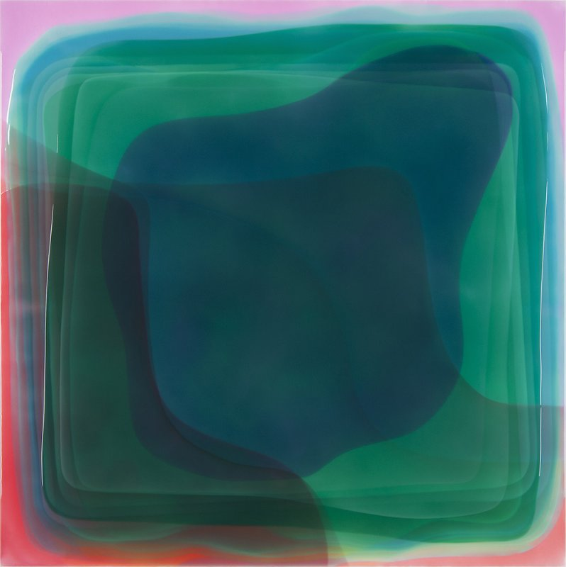Peter Zimmermann - Piano, 2014, Epoxy resin on canvas, 200 x 200 cm / 78.7 x 78.7 in.