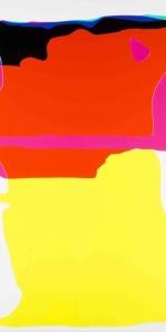 Peter Zimmermann - Cut, 2015, Epoxy resin on canvas, 250 x 160 cm