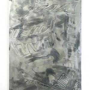 Peter Zimmermann - Ear, 1997, Epoxy resin on canvas, 180 x 120 cm / 70.7 x 47.2 in.