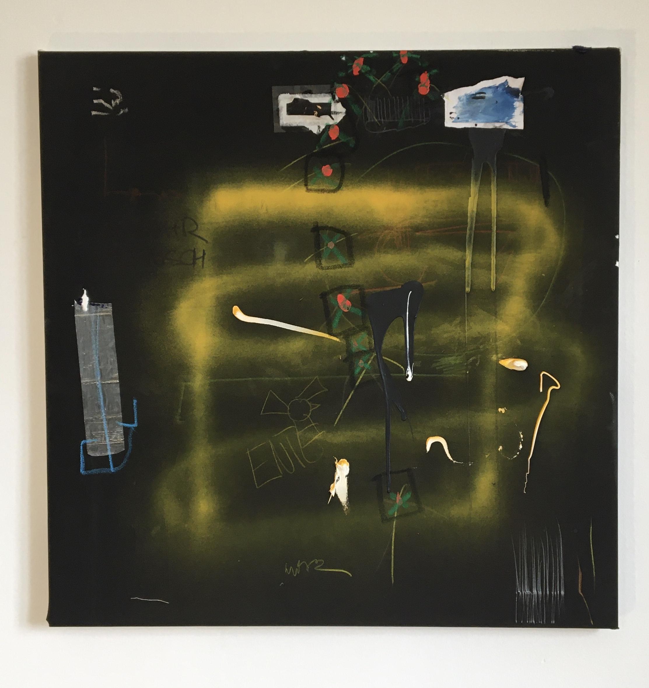 PNIK - kl, 2021, Mixed Media on canvas, 75 x 75 cm / 29.5 x  29.5 in