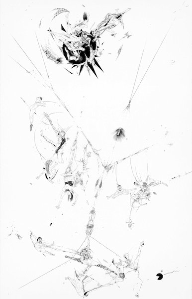 Ralf Ziervogel - Drawings for her pleasure I, 2011, Ink on paper, 100 x 76 cm