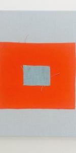 Saskia Friedrich - Untitled, 2017. fabric on canvas, 25 x 30 cm