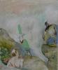 Siegfried Anzinger - untitled, 2009, Oil on canvas, 55 x 45 cm / 21.6 x 17.1 in