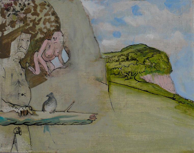 Siegfried Anzinger - untitled, 2009, Oil on canvas, 35 x 45 cm / 13.8 x 17.1 in
